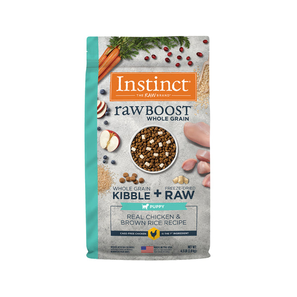Raw Boost Dog Kibble Puppy Recipe - Chicken & Brown Rice, 4.5lb