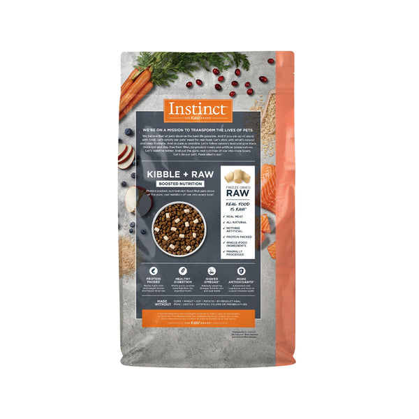 Raw Boost Dog Kibble - Salmon & Brown Rice, 4.5lb