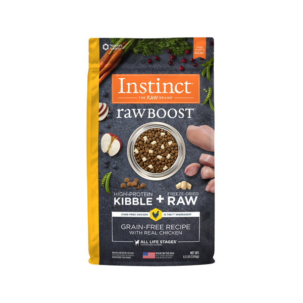 Raw Boost Grain Free Dog Kibble - Chicken, 4lb
