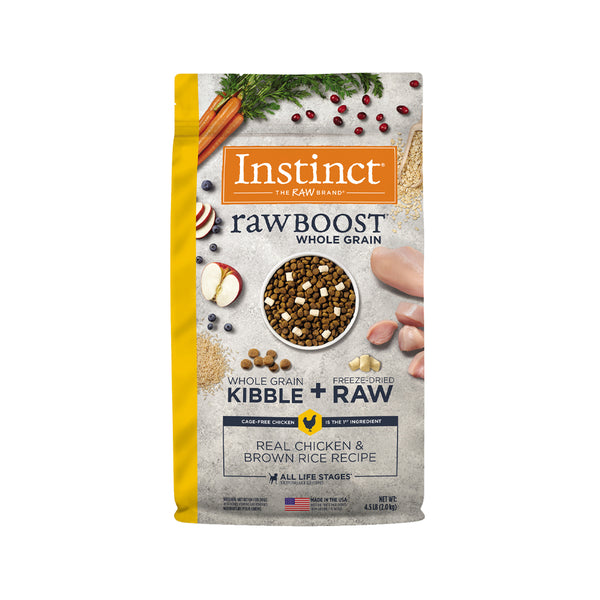 Raw Boost Dog Kibble - Chicken & Brown Rice, 4.5lb