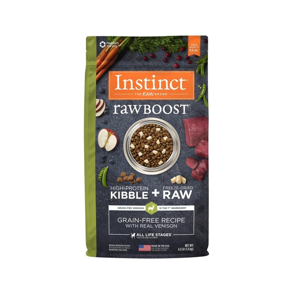 Instinct Raw Boost Venison, 4lb