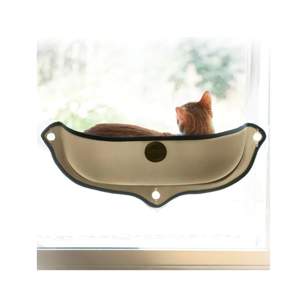 "EZ Mount Window Bed for Kitty, Tan, 11"" x 27"""
