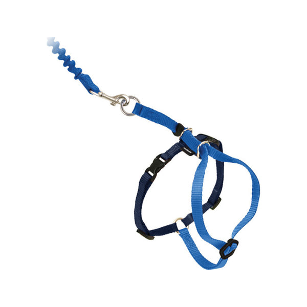 Kitty Harness & Bungee Leash Color : Blue Size : Medium