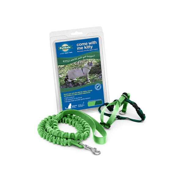 Kitty Harness & Bungee Leash Color : Lime Size : Medium