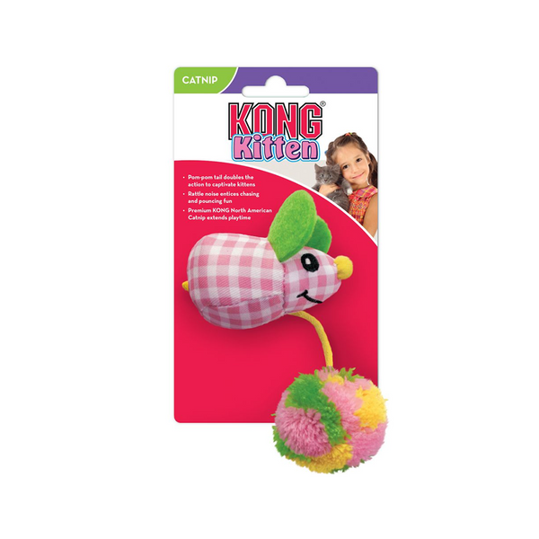 Pom Tail Mouse with Catnip, Color: Assorted