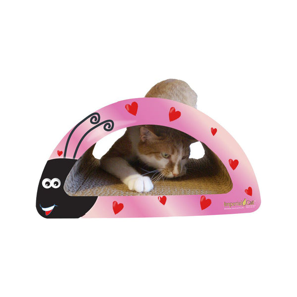 Love Bug 2 in 1 Cat Scratcher, Color: Pink