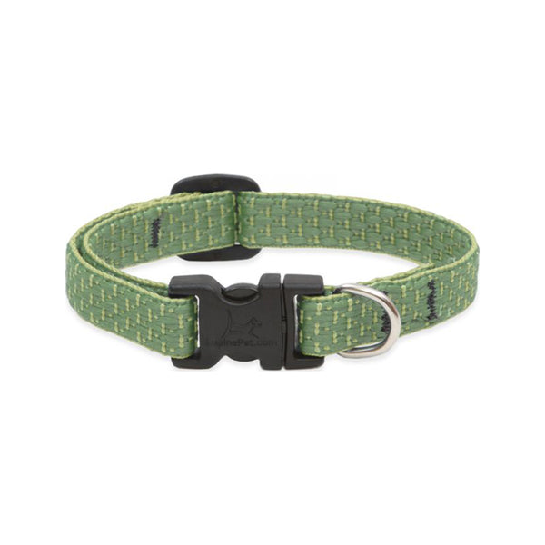 "Eco Dog Collar, Color: Moss, Width: 1/2"", Length: 10""-16"" (Adjustable)"