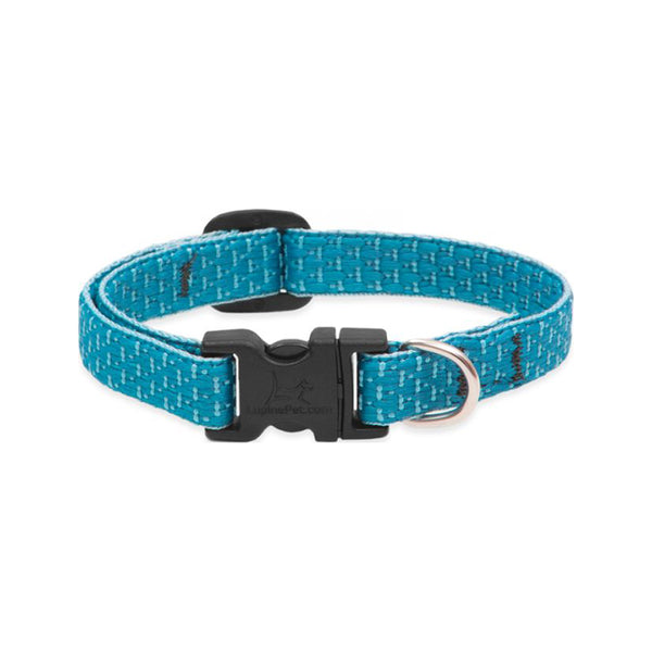 "Eco Dog Collar, Color: Tropical Sea, Width: 1/2"", Length: 8""-12"" (Adjustable)"