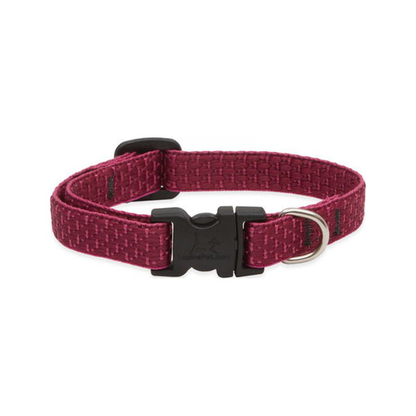 "Eco Dog Collar, Color: Berry, Width: 1/2"", Length: 8""-12"" (Adjustable)"
