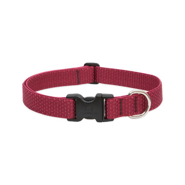 "Eco Dog Collar, Color: Berry, Width: 1"", Length: 12""-20"" (Adjustable)"