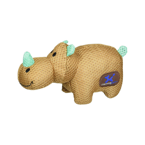 Lil' Roamers Mesh, Rhino Dog Plush Toy