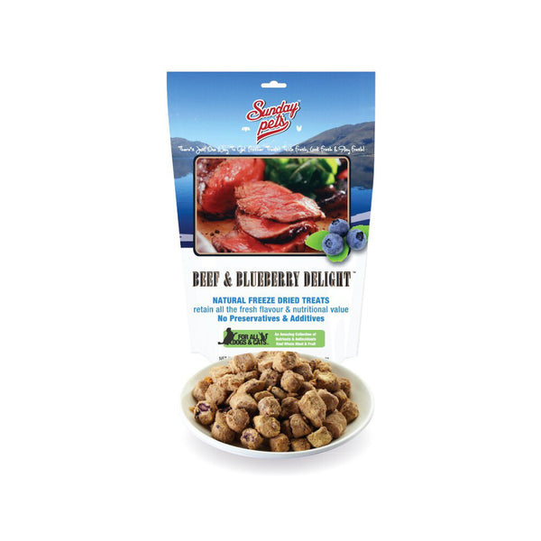 NZ Beef & Blueberry Freeze Dried Treats Weight : 1.76oz