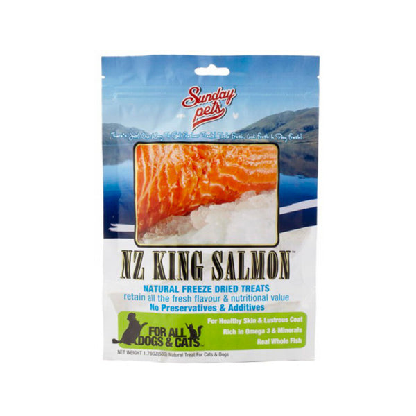 NZ King Salmon Natural Freeze Dried Treats Weight : 1.76oz