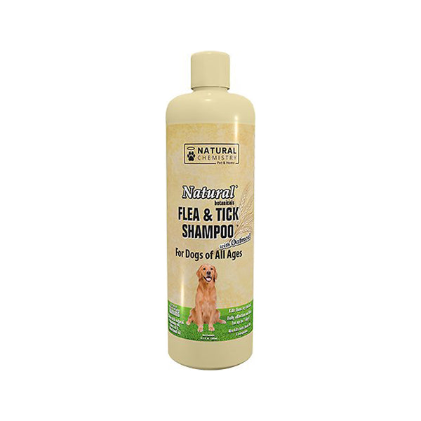 Natural Flea & Tick Shampoo with Oatmeal, 16oz