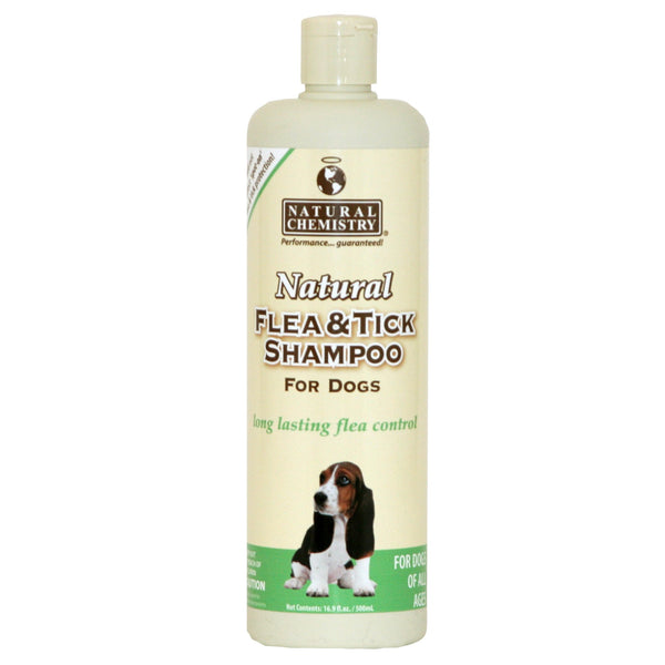 Natural Flea & Tick Shampoo for Dogs, 16oz