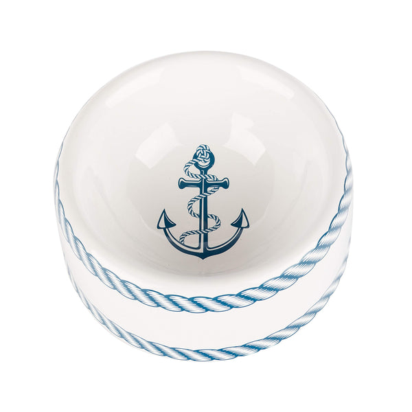 Nautical Collection Dog Bowl, Small