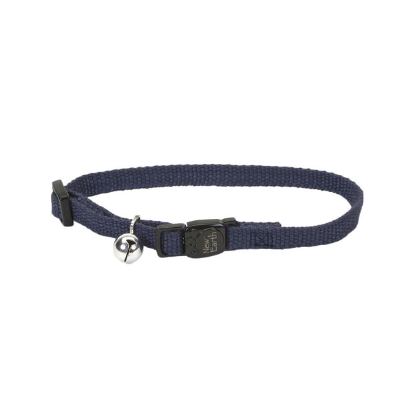 New Earth Soy Adjustable Breakaway Cat Collar, Indigo