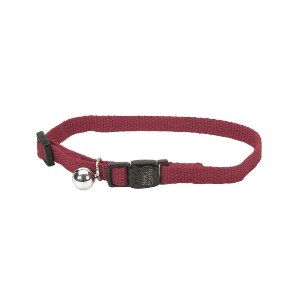 New Earth Soy Adjustable Breakaway Cat Collar, Cranberry