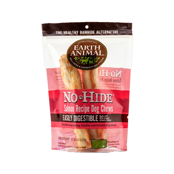 "No Hide Salmon Chews, 7"" x 2"