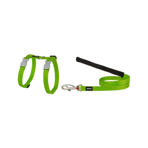 Nylon Cat Harness & Lead , Lime Green, Small