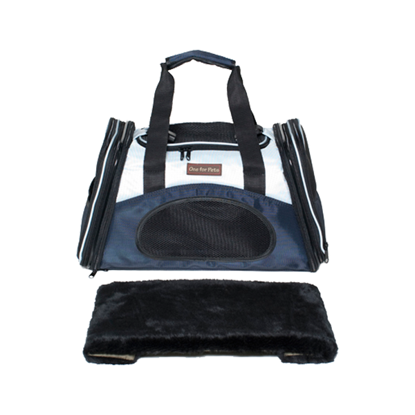 The One Bag Expandable Pet Carrier Color : Navy, Small