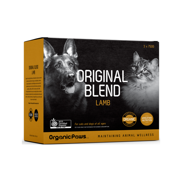 Certified Organic Frozen Lamb for Cats & Dogs, 8x275g