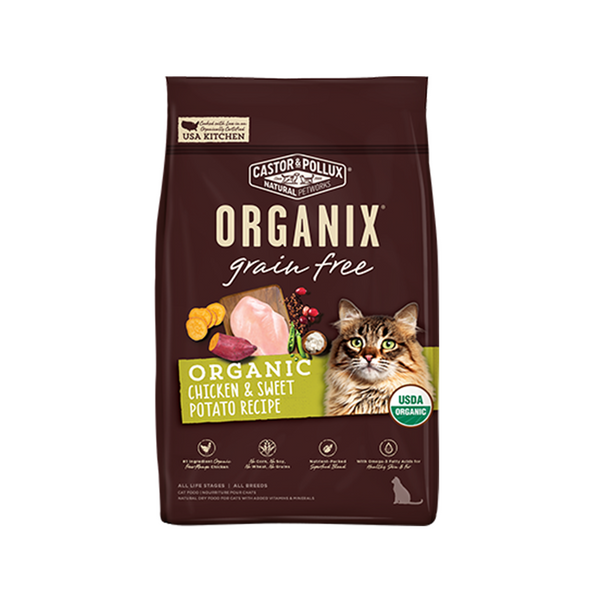 Feline Organix Grain-Free Chicken & Sweet Potato Recipe, 10lb