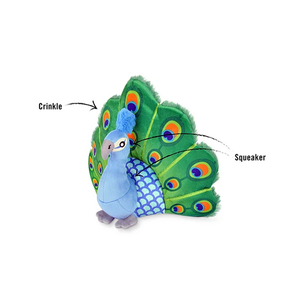 Fetching Flock Collection - Percy the Peacock Plush Toy