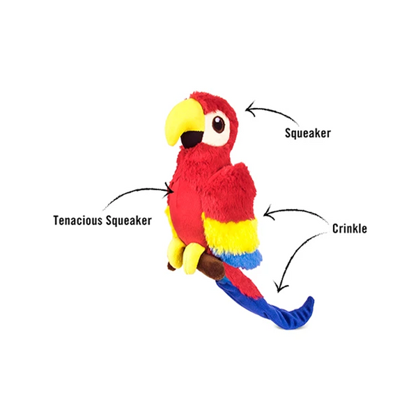 Fetching Flock Collection - Paula the Parrot Plush Toy
