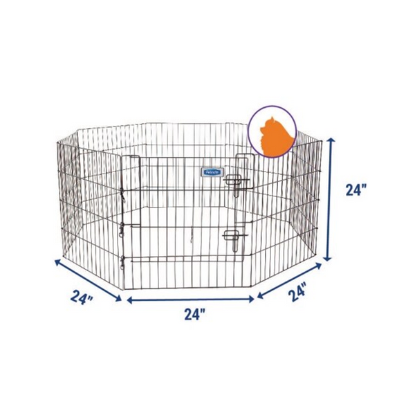 "Petmate Single Door Exercise Pen, 24"" H"