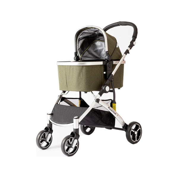 Carino II-JP Pet Stroller Color : Olive Green