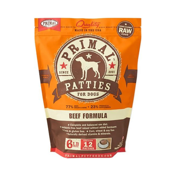 Canine Beef Formula Patties, 6lb