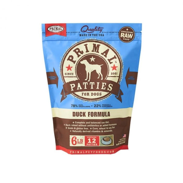 Canine Duck Formula Patties, 6lb