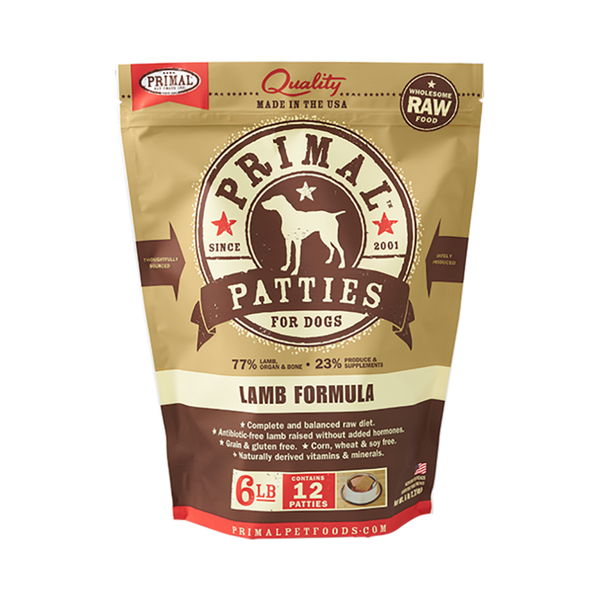 Canine Lamb Formula Patties, 6lb (Frozen)