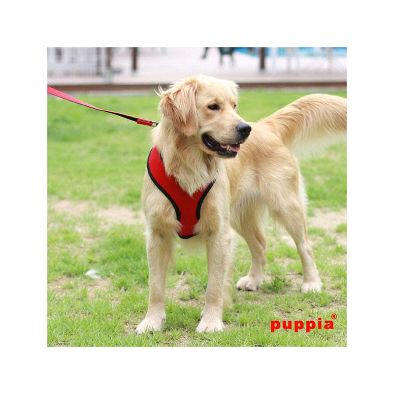 Puppia Soft Harness, Red, M
