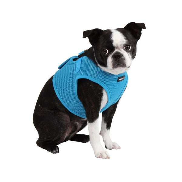 Puppia Soft Vest Harness, Sky Blue, M
