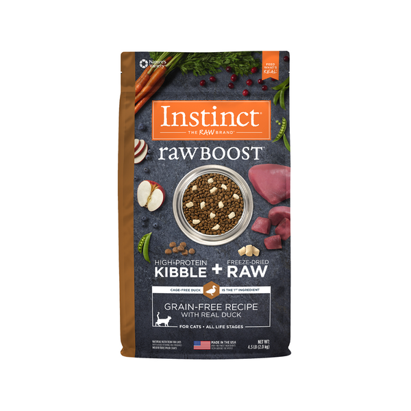 Feline Instinct Raw Boost Grain Free Duck Weight : 4.5lb