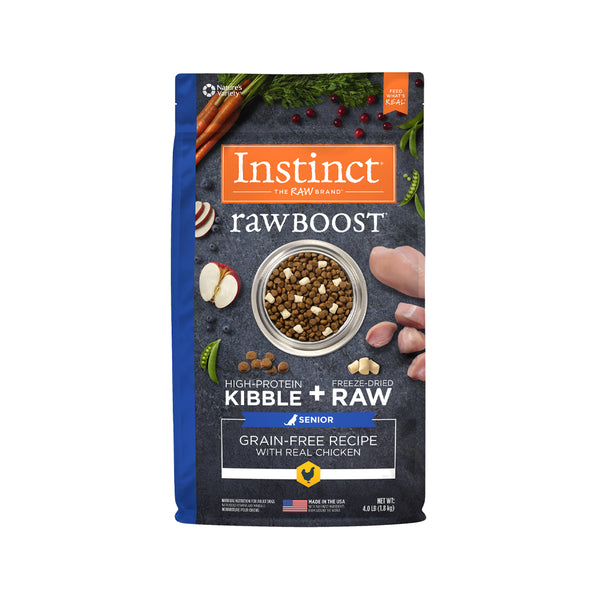Raw Boost Grain Free Dog Kibble Senior Recipe - Chicken, 4lb