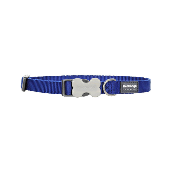 Classic Bucklebone Dog Collars, Color Dark Blue, Medium