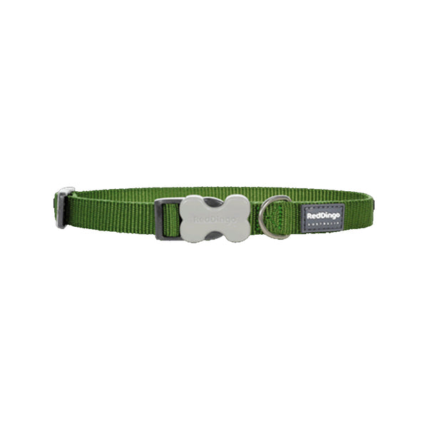 Classic Bucklebone Dog Collars, Color Green, Medium