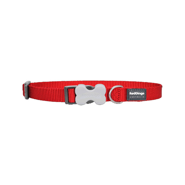Classic Bucklebone Dog Collars, Color Red, Small