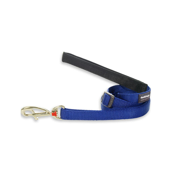Classic Adjustable Dog Leash, Dark Blue, 25mm