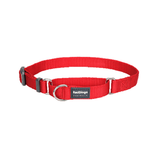 Classic Martingale Collar Color: Red, Medium