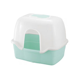 Corole Litter Box w/ Hood, Color Eco Green, Large