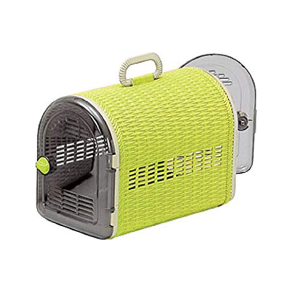 2 x Door Wicker Carrier, Color: Green