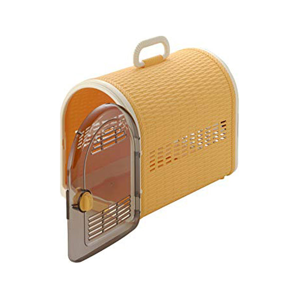 2 x Door Wicker Carrier, Color: Orange