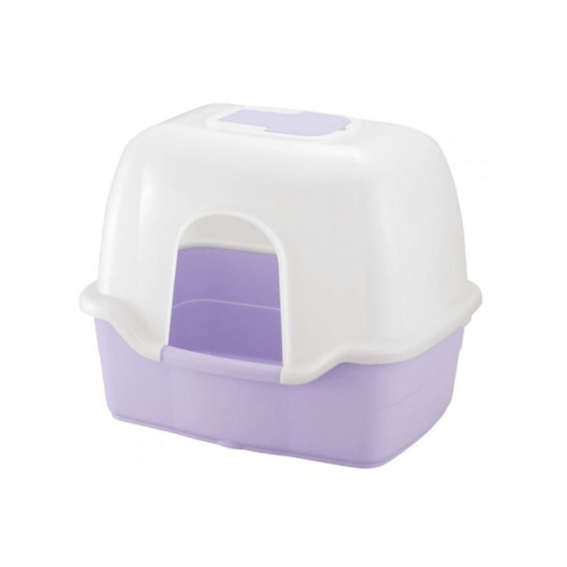 Corole Litter Box w/ Hood, Color Purple, Large