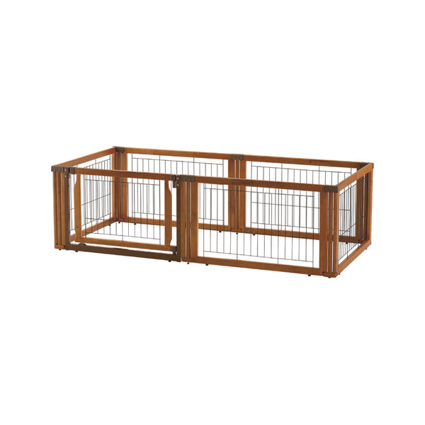 Wooden 3-Way Playpen 6 Panels (w/door), 50cm(H)