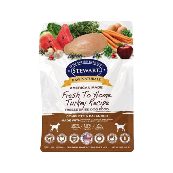 Freeze Dried Dog Food - Turkey, 24oz