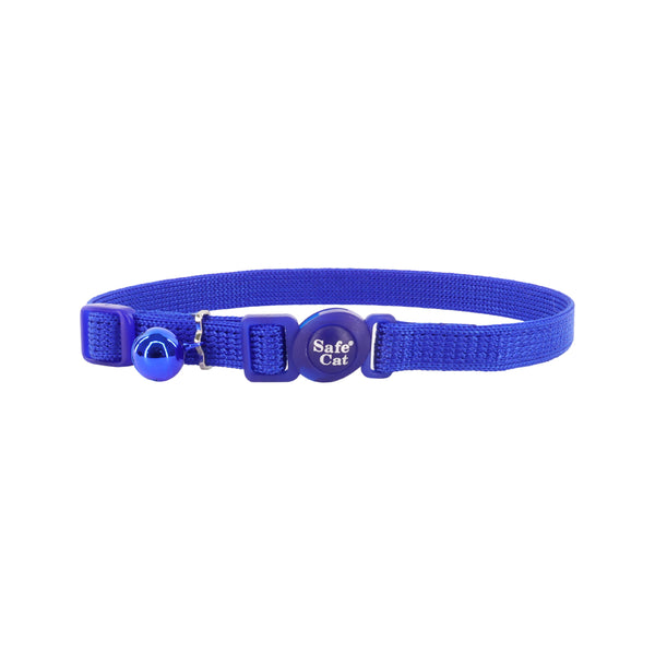 Safe Cat Adjustable Snag-Proof Breakaway Collar, Blue